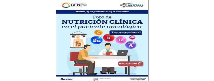 Foro de Nutrición Clínica en el Paciente Oncológico GENPO - Alianza másnutridos29 junio de 16 a 18 horas